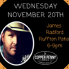 Live Music with James Radford 6-9pm