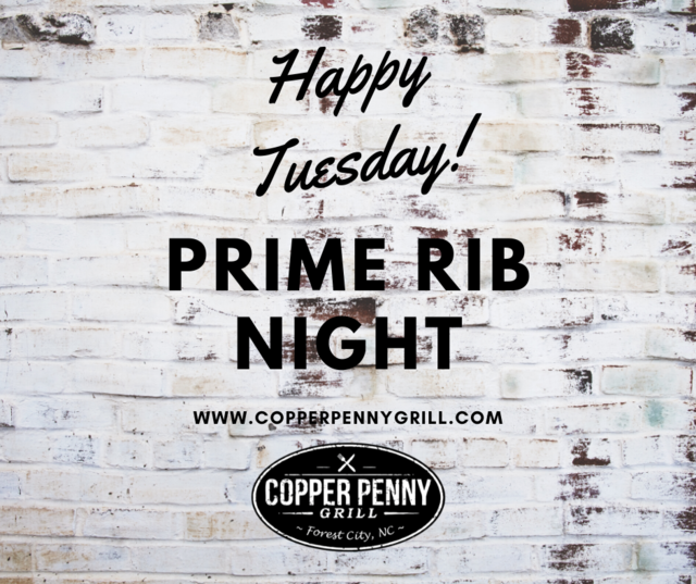 Prime Rib Tuesday - Forest City