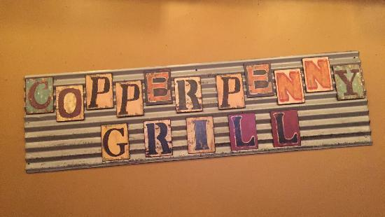 Copper Penny Grill Wall Art